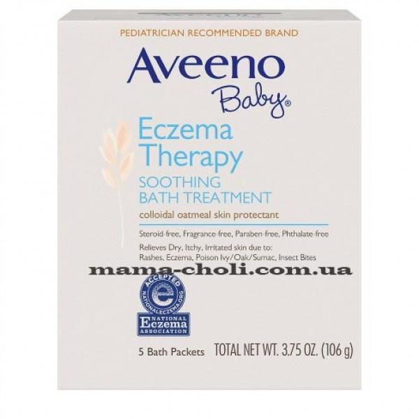 Aveeno Eczema Therapy Детская успокаивающая добавка для ванной 106 г.