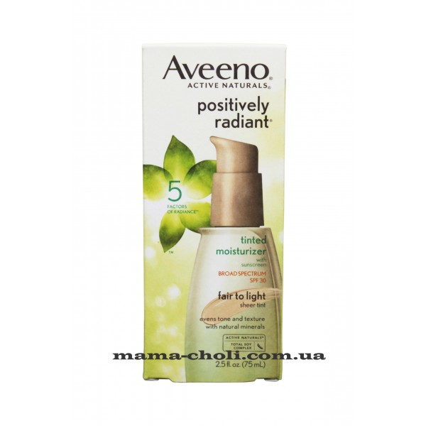 Aveeno Positively Radiant  Тонирующий увлажняющий крем SPF 30 75 мл.
