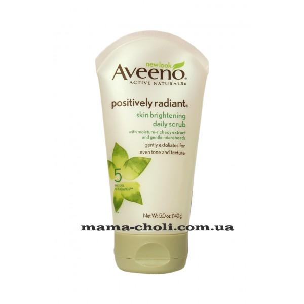 Aveeno Positively Radiant Осветляющий скраб для ежедневного ухода 141 г.