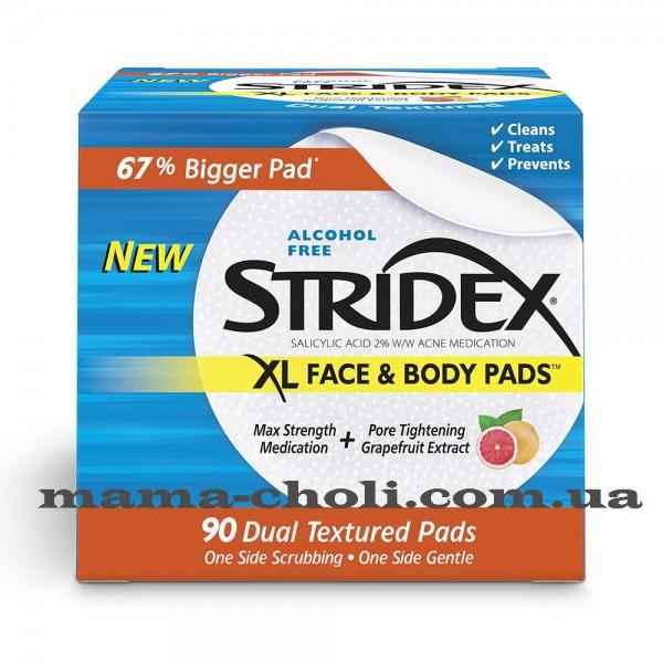 Stridex XL Очищающие салфетки с салициловой кислотой для лица и тела 90 шт.